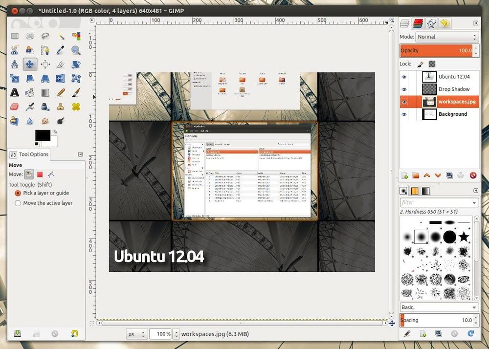 GIMP 2.8 Screenshot